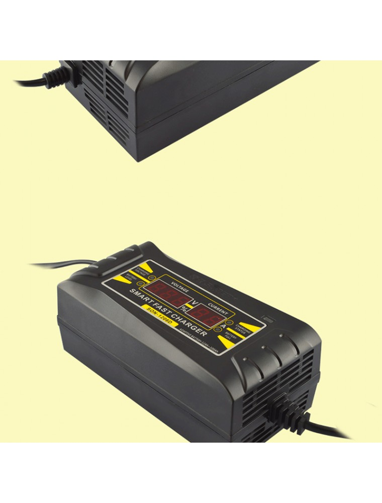 12V 6A smart Car motorcycle battery charger LCD Display